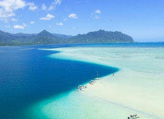 天国からの贈り物!幻のビーチ「サンドバー」とハワイの風を感じるセグウェイ体験 6日間