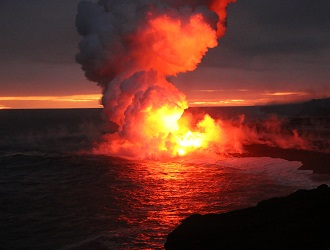 キラウエア火山/オーシャンエント