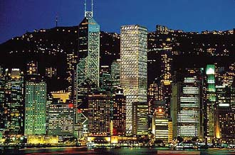 HongKong 100万ドルの夜景