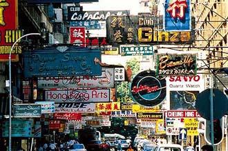 尖沙咀(チムチャツイ)の街並み