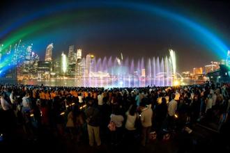 きらめきの夜景満喫シンガポール
