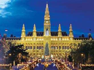 ウィーン市庁舎前のクリスマス市(