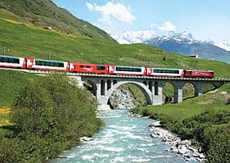 スイス氷河特急のイメージ