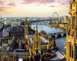ロンドン夕景 (c)VisitBritain/ Andrew Pickett